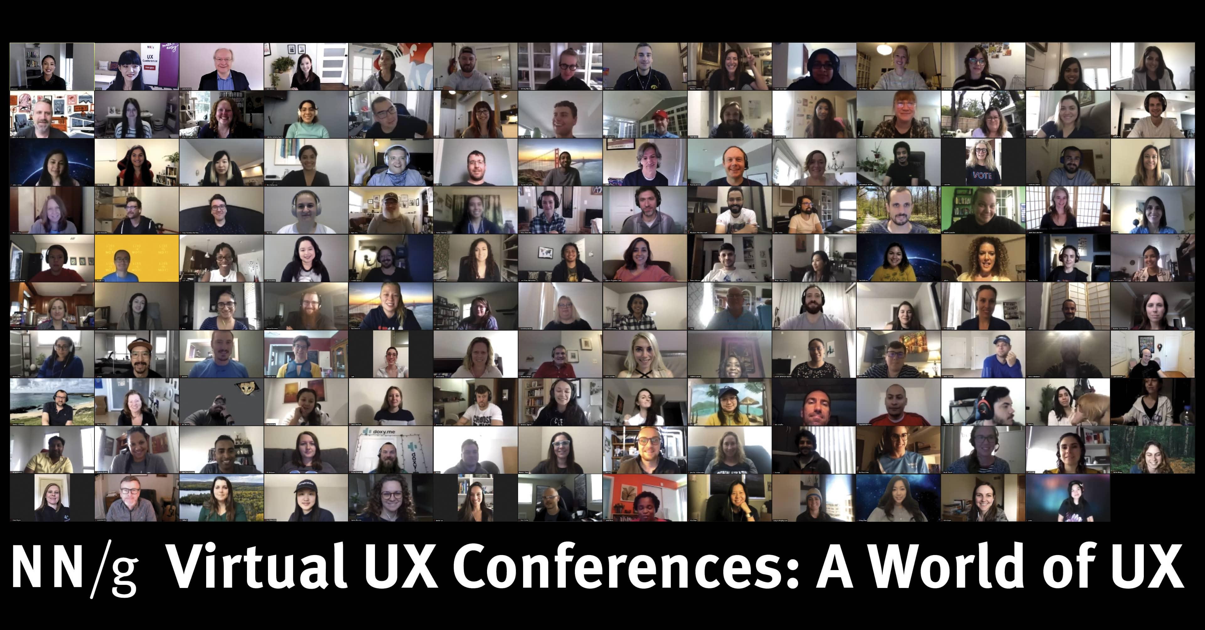在虚拟UX与会者合影