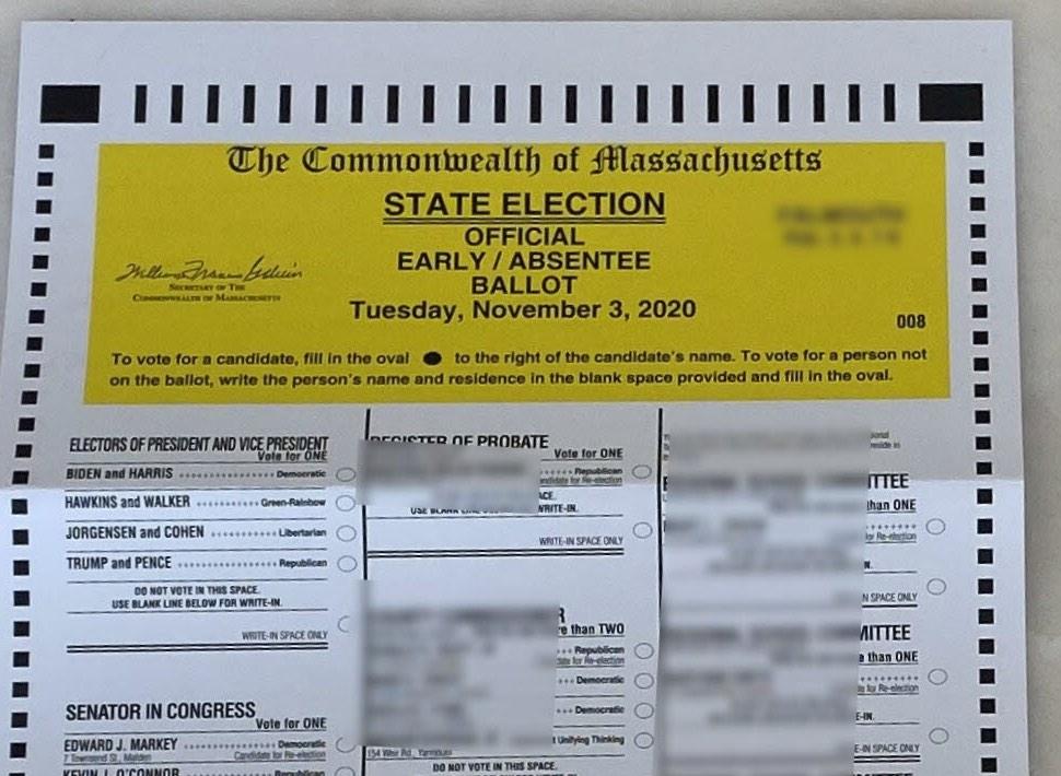 早/缺席选票为马萨诸塞州的图片