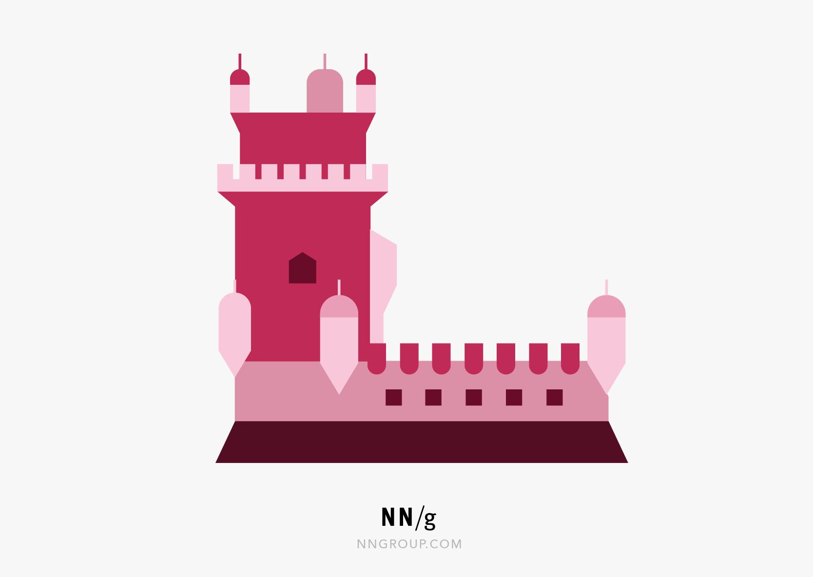 可用性启发式#6:代表里斯本的城堡。人们更容易听到资本并将其放置在国家,而不是彻底地称之为资本。