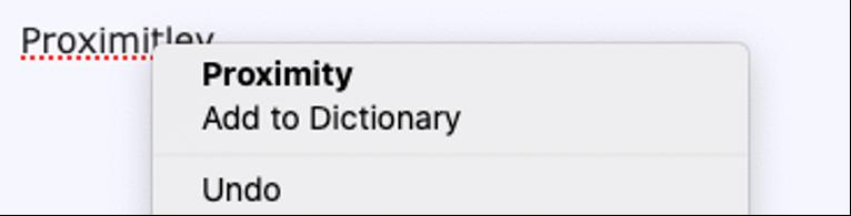 El menú contextual del corrector ortográfico integrado de Firefox muestra una sugerencia ortográfica junto a la opción para agregar ortografía al diccionario.