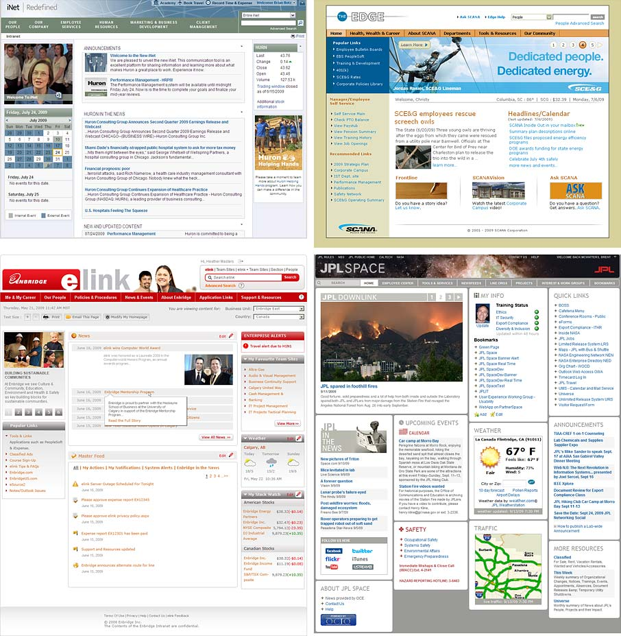 sharepoint design examples homepages of 4 intranet design annual