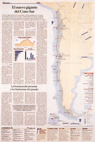 Newspaper page about Chile