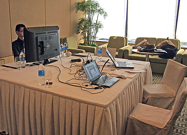 Photo of usability lab set-up from Nielsen Norman Group study in Hong Kong 2011.
