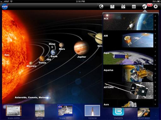 美国宇航局iPad应用