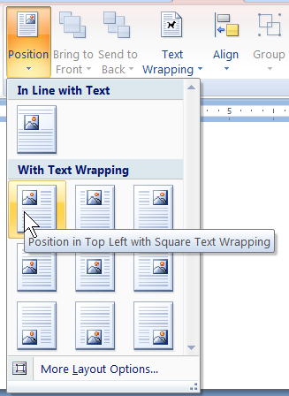 Screenshot of Microsoft Office 2007's Ribbon
