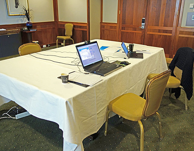Photo of usability lab set-up from Nielsen Norman Group study in Sydney 2012.