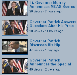 Screenshot of thumbnails representing video clips