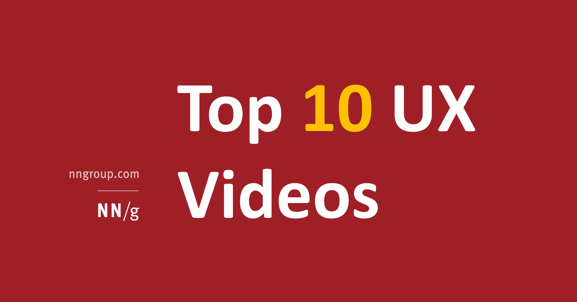 Top 10 UX Videos of 2018