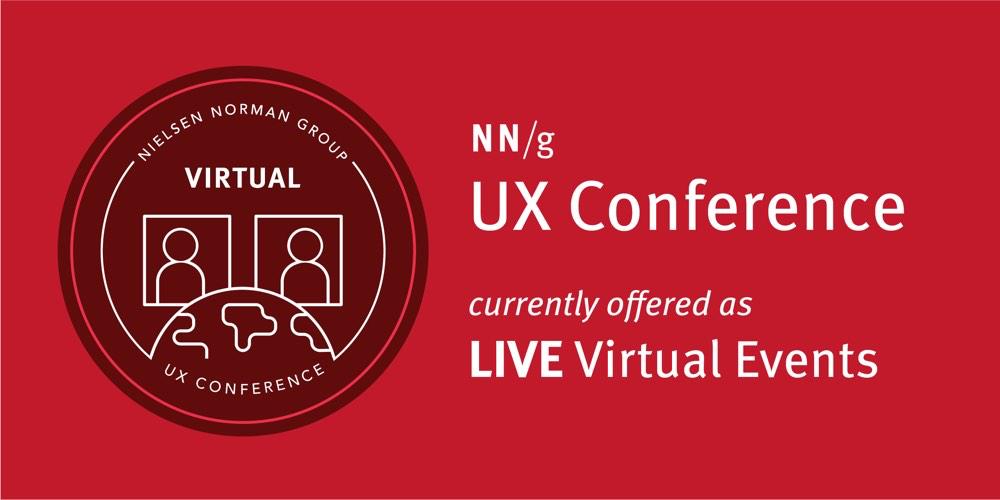 NN / g的UX会议是目前提供的实时虚拟事件