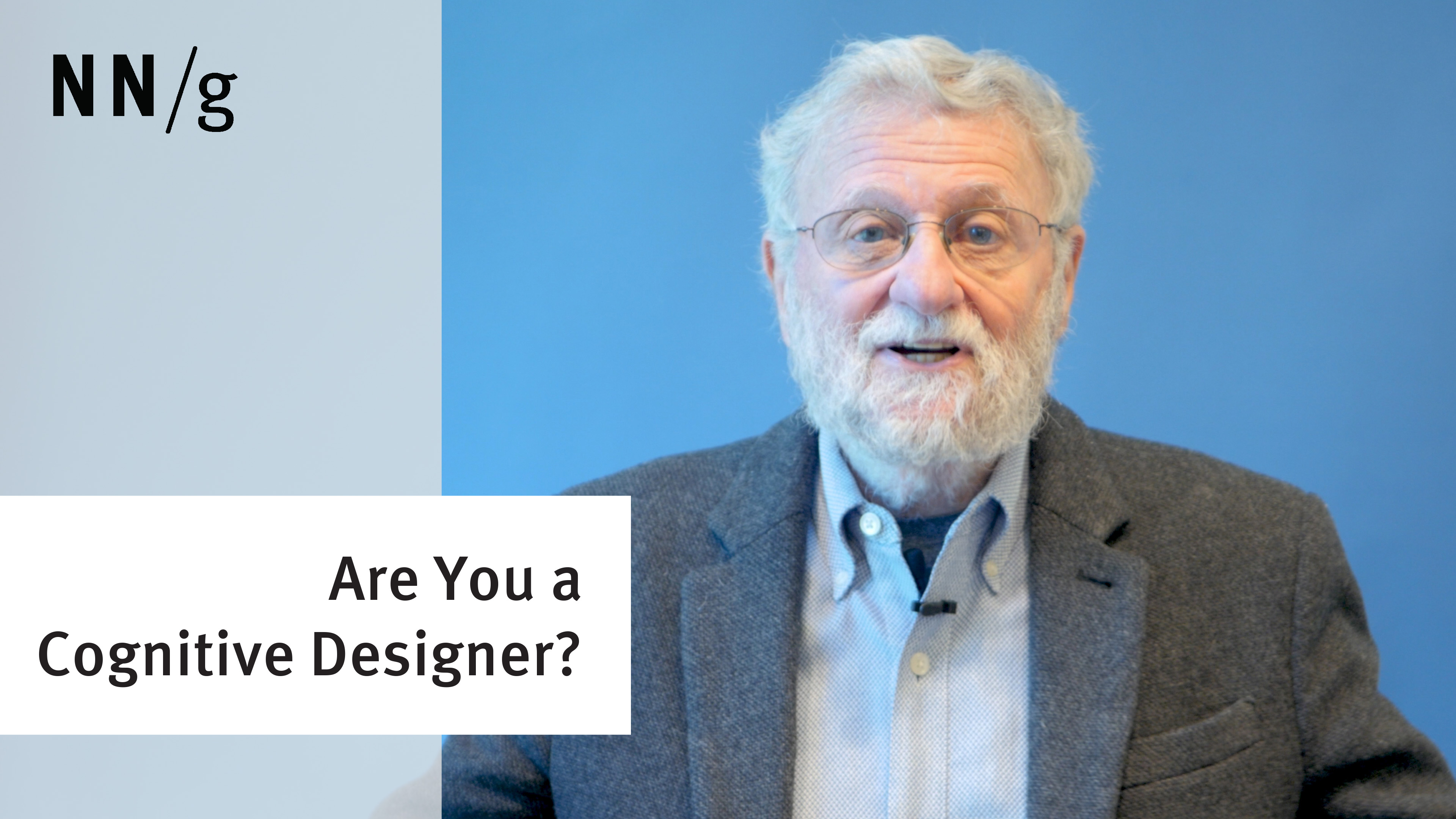 Are You a Cognitive Designer? (Don Norman) (Video)