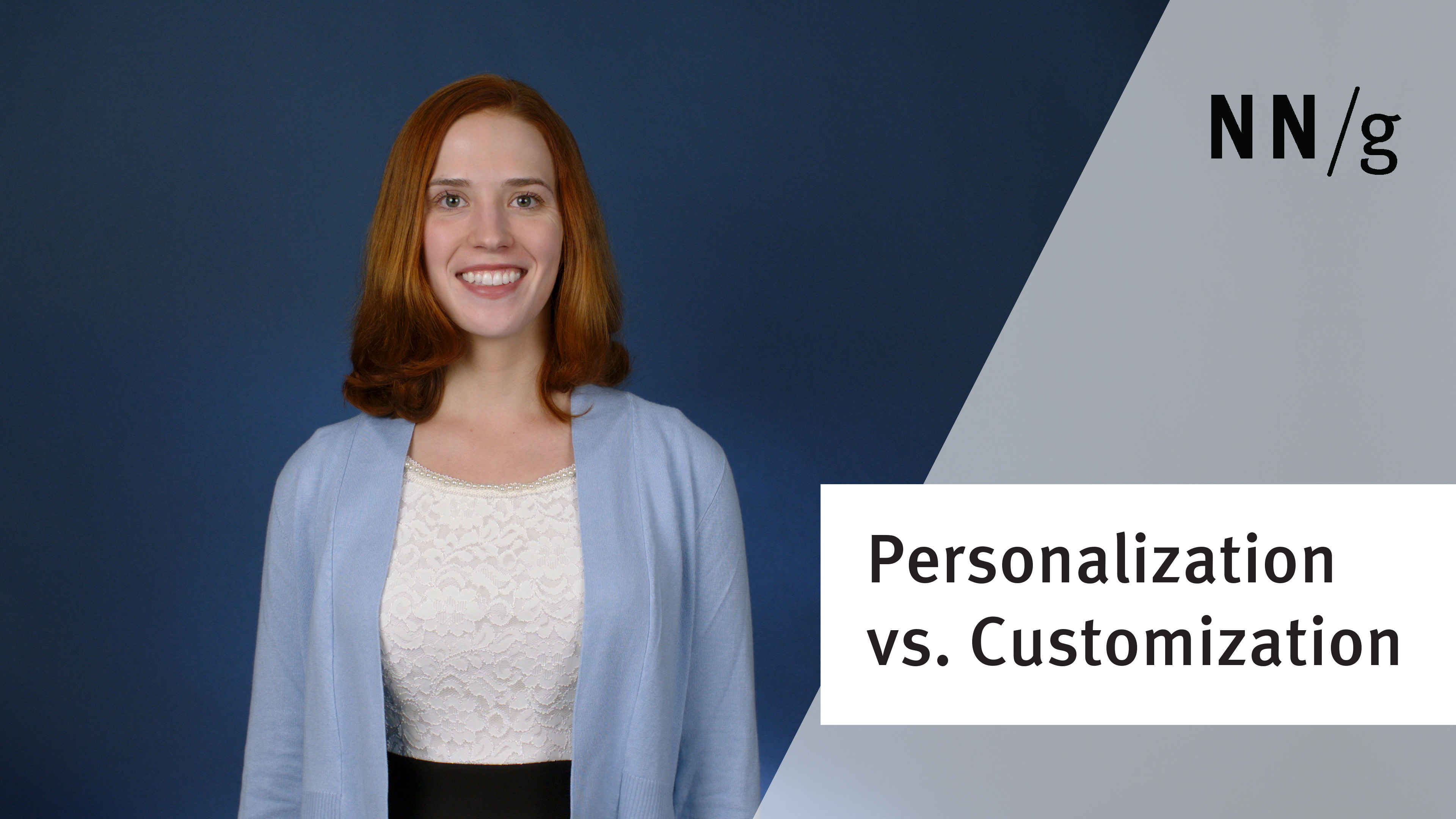 Personalization versus Customization