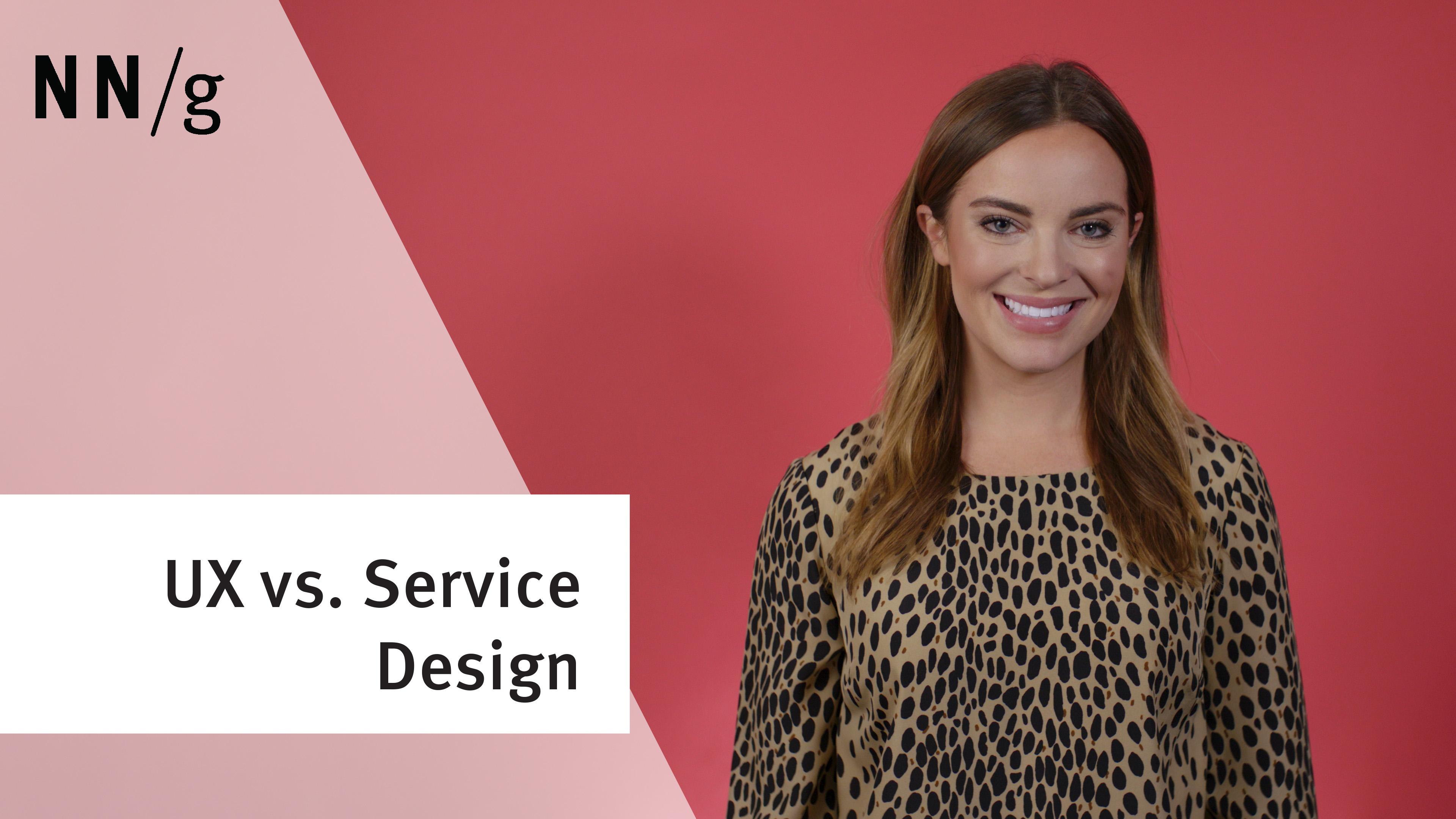 UX vs. Service Design (Video)