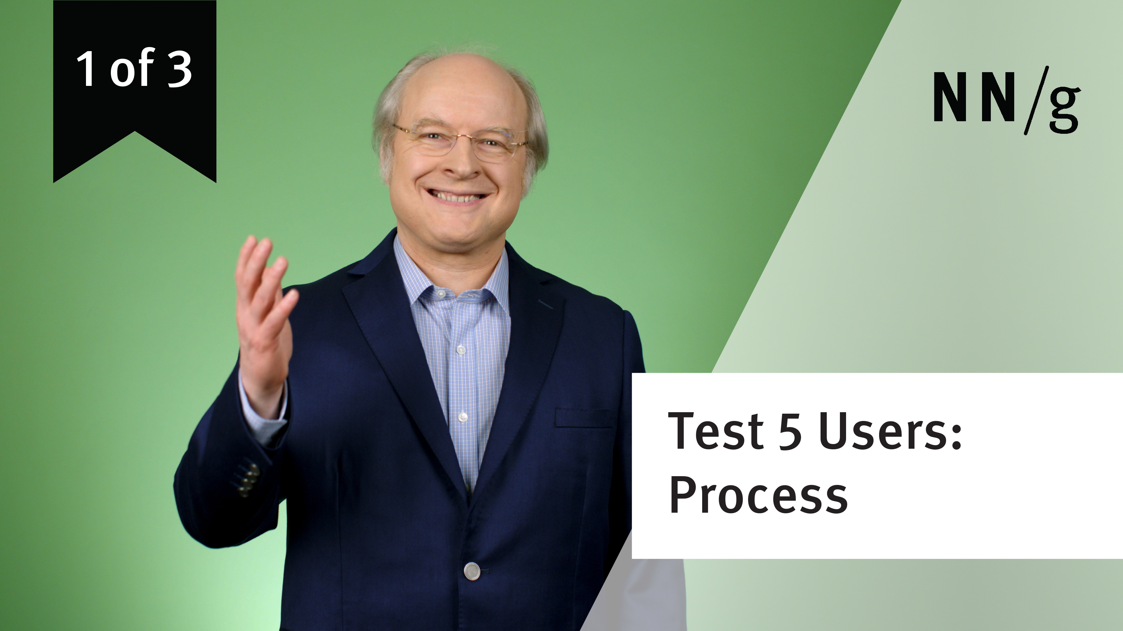 Usability Testing with 5 Users: Design Process (video 1 of 3) (Video)