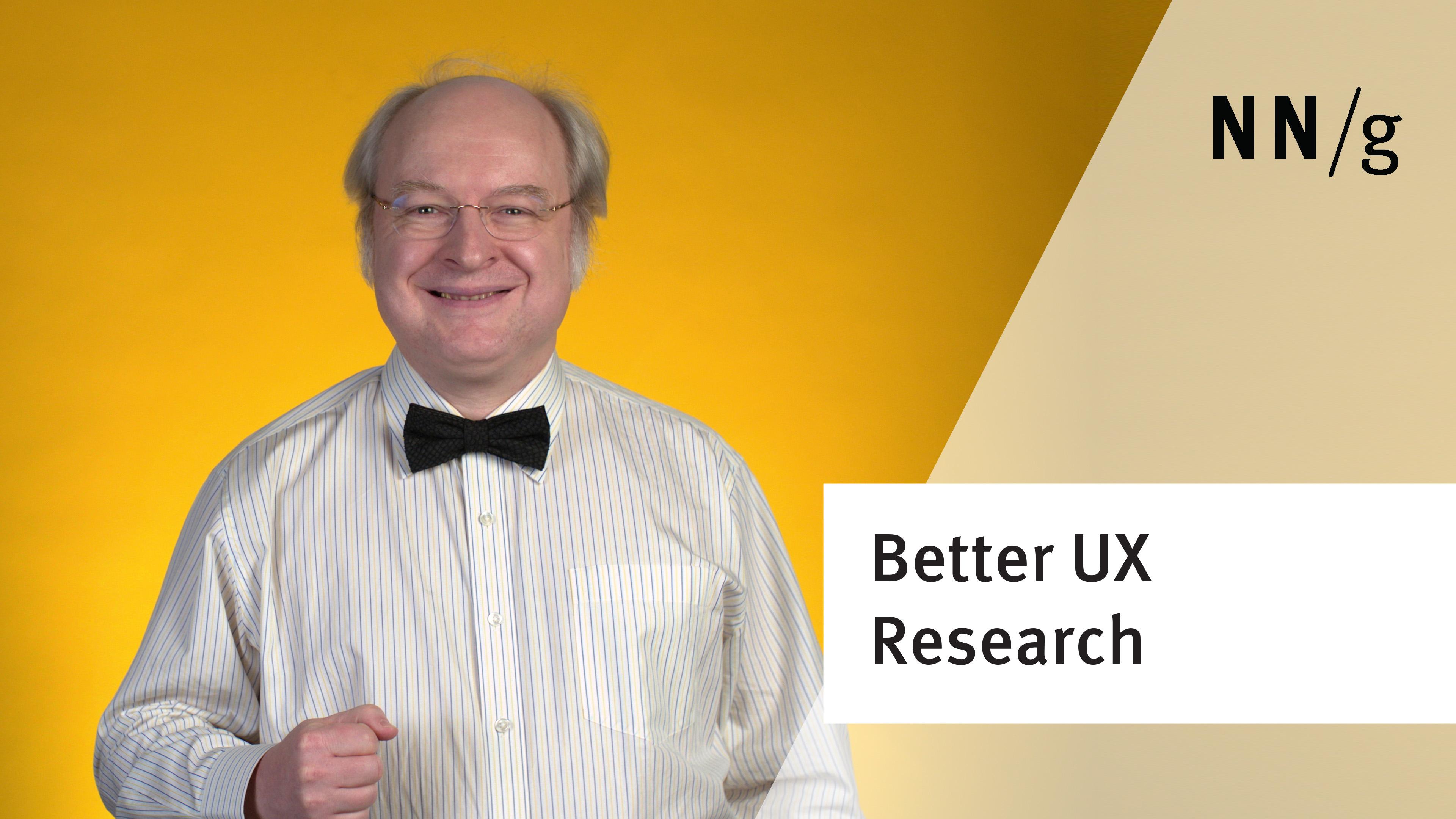 User Testing: Why & How (Jakob Nielsen)