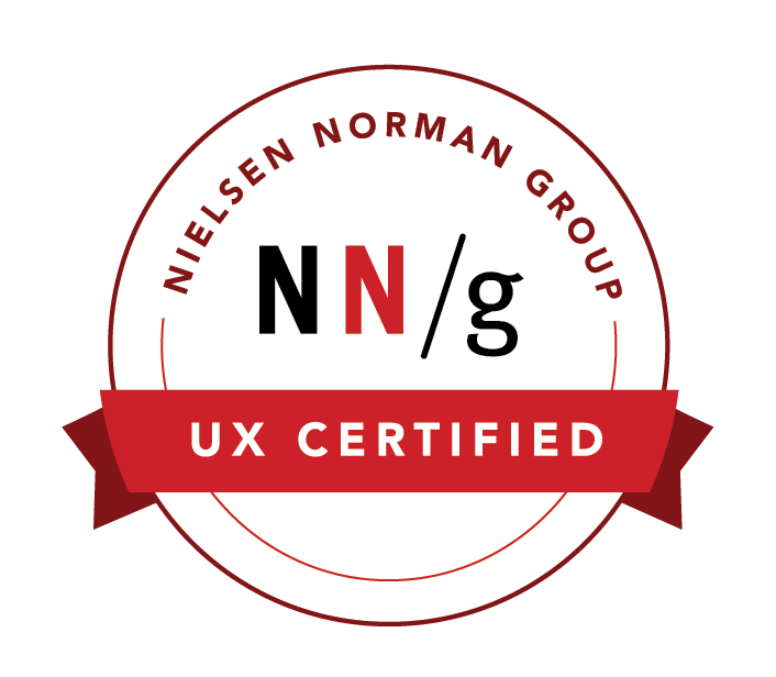 万博官网manbetx下载UX Certification Badge manbetx官网手机登陆from Nielsen Norman Group