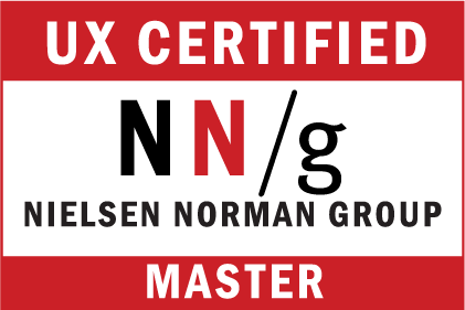 UX Master Certification Badge from Nielsen Norman Group